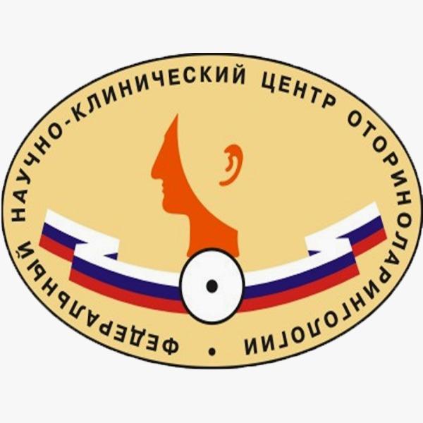 Логотип научно-клинический центр оториноларингологии